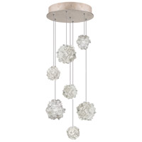 Fine Art Lamps Natural Inspirations 7 Light Drop Light in Gold-Toned Silver Leaf 852640-205ST
