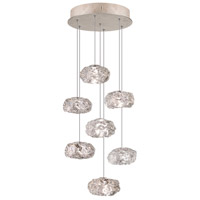Fine Art Lamps Natural Inspirations 7 Light Drop Light in Gold-Toned Silver Leaf 852640-21ST