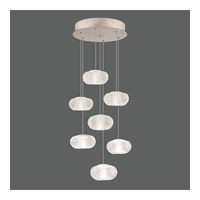 Fine Art Lamps Natural Inspirations 7 Light Drop Light in Gold-Toned Silver Leaf 852640-22ST