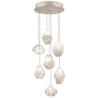 Fine Art Lamps Natural Inspirations 7 Light Drop Light in Gold-Toned Silver Leaf 852640-23ST