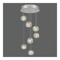 Natural Inspirations 7 Light 14 inch Silver Drop Light Ceiling Light