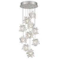 Fine Art Lamps 852840-102ST Natural Inspirations 10 Light 17 inch Silver Drop Light Ceiling Light