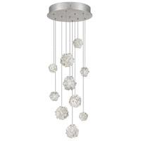 Fine Art Lamps 852840-105ST Natural Inspirations 10 Light 17 inch Silver Pendant Ceiling Light