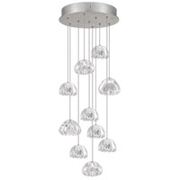 Fine Art Lamps 852840-107ST Natural Inspirations 10 Light 17 inch Silver Pendant Ceiling Light