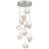 Natural Inspirations 10 Light 17 inch Silver Leaf Drop Light Ceiling Light