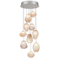 Fine Art Lamps Natural Inspirations 10 Light Drop Light in Silver Leaf 852840-14ST