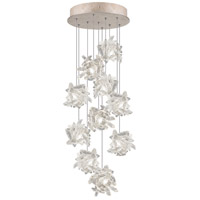 Natural Inspirations 10 Light 17 inch Gold Toned Silver Leaf Pendant Ceiling Light