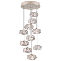 Natural Inspirations 10 Light 17 inch Gold-Toned Silver Leaf Drop Light Ceiling Light