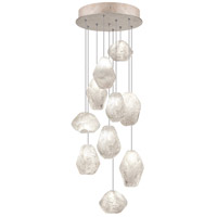Fine Art Lamps Natural Inspirations 10 Light Drop Light in Gold-Toned Silver Leaf 852840-23ST