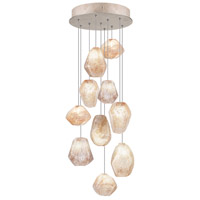 Fine Art Lamps Natural Inspirations 10 Light Drop Light in Gold-Toned Silver Leaf 852840-24ST