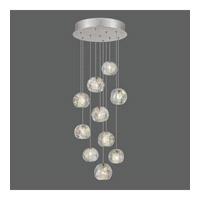 Fine Art Lamps 852840-106ST Natural Inspirations 10 Light 17 inch Silver Drop Light Ceiling Light