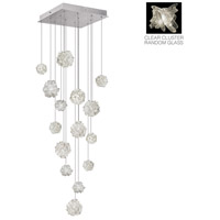 Natural Inspirations 15 Light 19 inch Platinized Silver Leaf Pendant Ceiling Light