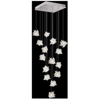 Fine Art Lamps 853040-102LD Natural Inspirations 15 Light 19 inch Silver Pendant Ceiling Light
