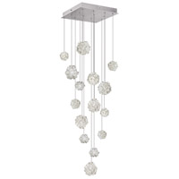Fine Art Lamps 853040-105ST Natural Inspirations 15 Light 19 inch Silver Drop Light Ceiling Light