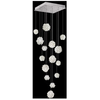 Fine Art Lamps 853040-105LD Natural Inspirations 15 Light 19 inch Silver Pendant Ceiling Light