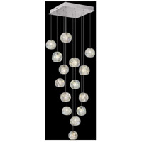 Fine Art Lamps 853040-106LD Natural Inspirations 15 Light 19 inch Silver Pendant Ceiling Light