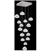 Fine Art Lamps 853040-107LD Natural Inspirations 15 Light 19 inch Silver Pendant Ceiling Light