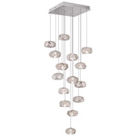Fine Art Lamps Natural Inspirations 15 Light Drop Light in Platinized Silver Leaf 853040-11ST