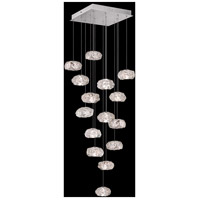 Fine Art Lamps 853040-11LD Natural Inspirations 15 Light 19 inch Silver Pendant Ceiling Light