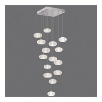 Fine Art Lamps Natural Inspirations 15 Light Drop Light in Platinized Silver Leaf 853040-12ST