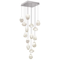 Fine Art Lamps Natural Inspirations 15 Light Drop Light in Silver Leaf 853040-13ST
