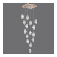 Fine Art Lamps Natural Inspirations 15 Light Pendant in Gold Toned Silver Leaf 853040-201ST