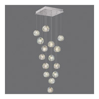 Fine Art Lamps 853040-106ST Natural Inspirations 15 Light 19 inch Silver Drop Light Ceiling Light