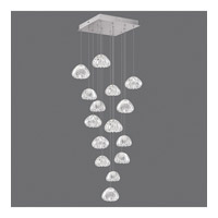 Fine Art Lamps 853040-107ST Natural Inspirations 15 Light 19 inch Silver Drop Light Ceiling Light