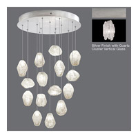 Fine Art Lamps Natural Inspirations 15 Light Pendant in Platinized Silver Leaf 853140-101ST