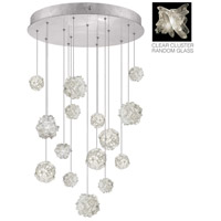 Fine Art Lamps Natural Inspirations 15 Light Pendant in Platinized Silver Leaf 853140-102ST