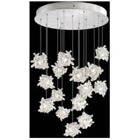 Fine Art Lamps 853140-102LD Natural Inspirations 15 Light 21 inch Silver Pendant Ceiling Light