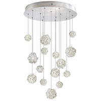 Fine Art Lamps 853140-105ST Natural Inspirations 15 Light 21 inch Silver Pendant Ceiling Light