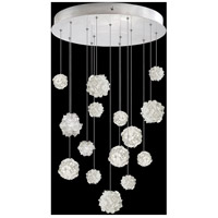 Fine Art Lamps 853140-105LD Natural Inspirations 15 Light 21 inch Silver Pendant Ceiling Light