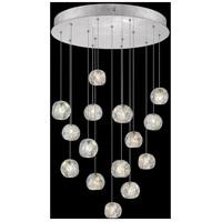 Fine Art Lamps 853140-106LD Natural Inspirations 15 Light 21 inch Silver Pendant Ceiling Light