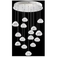 Fine Art Lamps 853140-107LD Natural Inspirations 15 Light 21 inch Silver Pendant Ceiling Light
