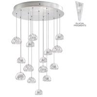 Fine Art Lamps 853140-108ST Natural Inspirations 15 Light 21 inch Silver Pendant Ceiling Light