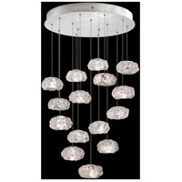 Fine Art Lamps 853140-11LD Natural Inspirations LED 15 Light 21 inch Silver Pendant Ceiling Light