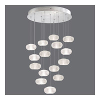 Fine Art Lamps Natural Inspirations 15 Light Drop Light in Platinized Silver Leaf 853140-12ST