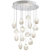Fine Art Lamps Natural Inspirations 15 Light Drop Light in Silver Leaf 853140-13ST