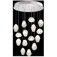 Fine Art Lamps 853140-13LD Natural Inspirations 15 Light 21 inch Silver Pendant Ceiling Light