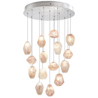 Fine Art Lamps Natural Inspirations 15 Light Drop Light in Silver Leaf 853140-14ST