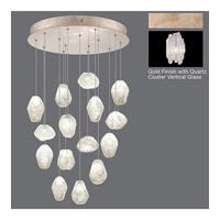 Natural Inspirations 15 Light 21 inch Gold Toned Silver Leaf Pendant Ceiling Light