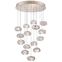 Natural Inspirations 15 Light 21 inch Gold-Toned Silver Leaf Drop Light Ceiling Light