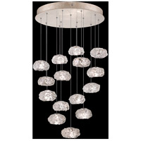 Fine Art Lamps 853140-21LD Natural Inspirations LED 15 Light 21 inch Gold Pendant Ceiling Light