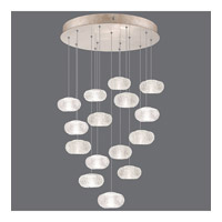 Fine Art Lamps Natural Inspirations 15 Light Drop Light in Gold-Toned Silver Leaf 853140-22ST