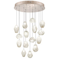 Fine Art Lamps Natural Inspirations 15 Light Drop Light in Gold-Toned Silver Leaf 853140-23ST