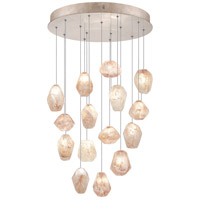 Fine Art Lamps Natural Inspirations 15 Light Drop Light in Gold-Toned Silver Leaf 853140-24ST