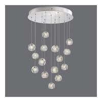 Fine Art Lamps 853140-106ST Natural Inspirations 15 Light 21 inch Silver Drop Light Ceiling Light