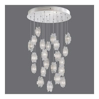 Fine Art Lamps Natural Inspirations 22 Light Pendant in Platinized Silver Leaf 853240-101ST