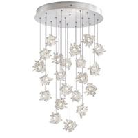 Fine Art Lamps Natural Inspirations 22 Light Pendant in Platinized Silver Leaf 853240-102ST